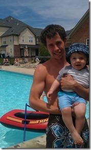 Mason at pool
