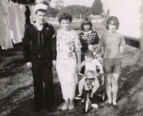 mother and us kids in the 1970s