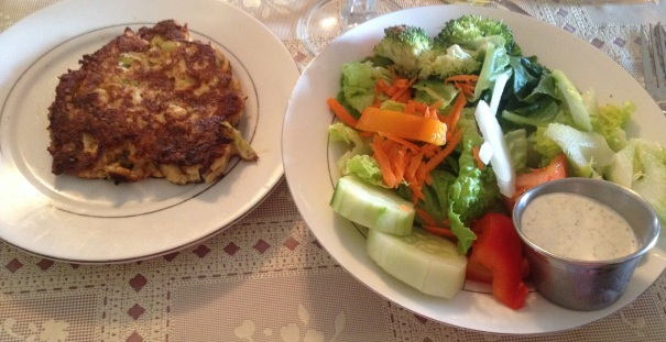 Salad and Crab Cake