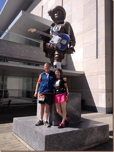 Ron and Melissa with Sir Walter Raleigh