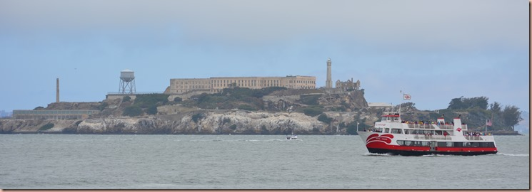 Alcatraz with ferry