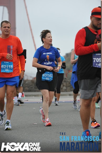 Mel on the GGB SF half marathon