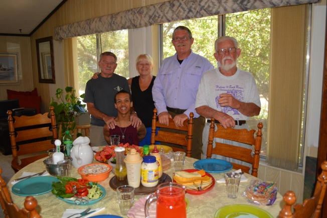lunch at Aunt Linda's