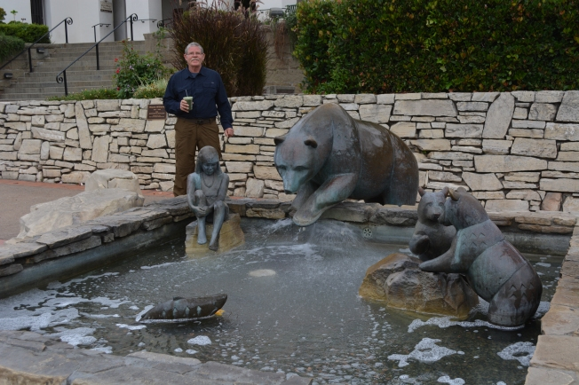Ron at the fountain